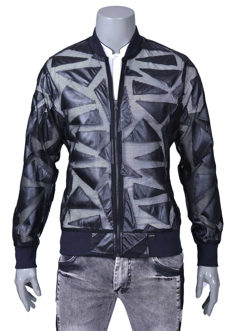 "Black ""Triangle"" See-Through Jacket"