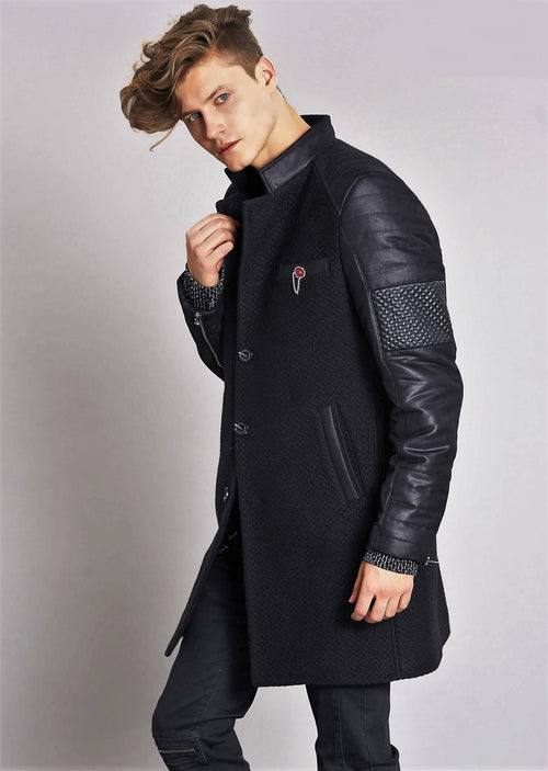 Black Sleeve Quilted Coat
