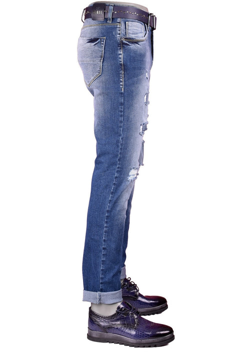 Nyc Core Ripped Medium Wash Slim Fit Jeans