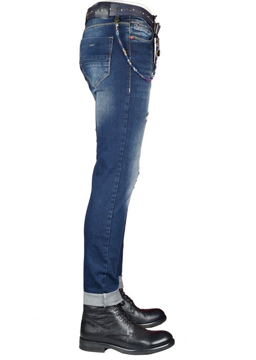 Vegas Shredded Wash Slim Jeans