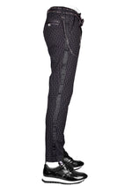 Black Stripe Tech Stretch Fit Pants