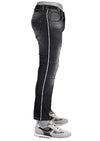 Black Side Stripe Slim Fit Jeans