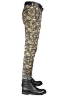 Camouflage Zipper Tech Stretch Fit Pants