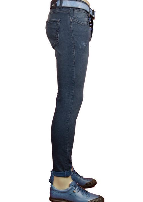 Blue Slim Straight Fit Jeans