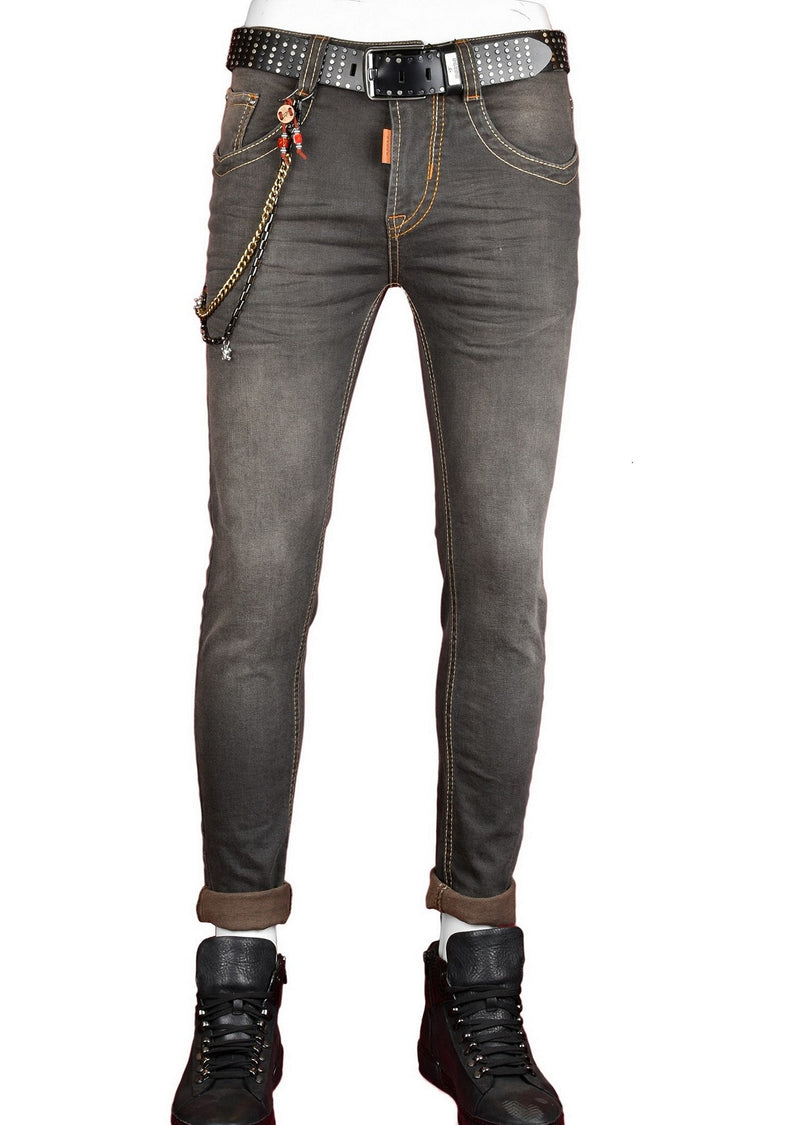 Light Green Slim Straight Fit Jeans