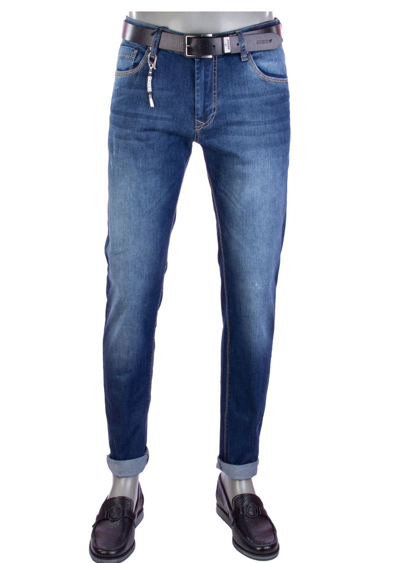 "Blue ""Rodeo Drive"" Slim Fit Straight Jeans"