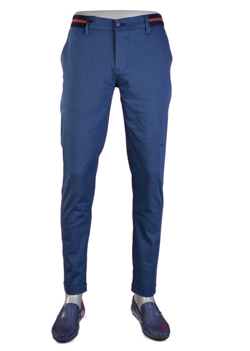 Blue Ribbon Waist Band Stretch Pants