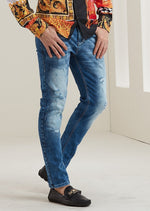 "Blue ""Bel Air"" Slim Fit Straight Jeans"
