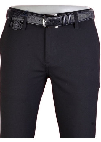"Black ""Alexander The Great Buckle"" Stretch Pants"