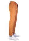 Brown Tech Stretch Slim Fit Pants