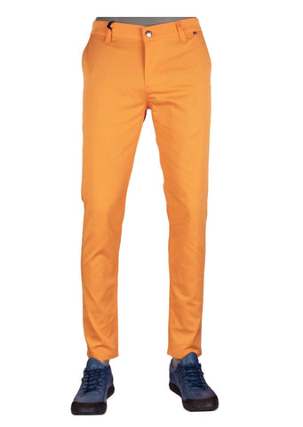 Orange Tech Stretch Slim Fit Pants