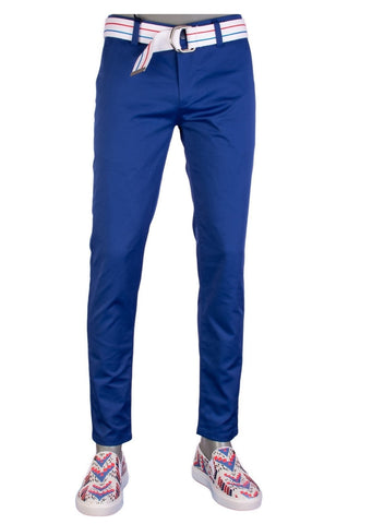 Blue Tech Stretch Slim Fit Pants