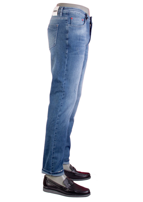 "Blue ""Melrose"" Lightweight Slim Jeans"