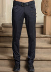 Navy Silver Zipper Tech Stretch Pants