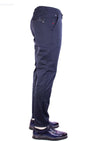 Navy Side Pocket Zipper Tech Pants