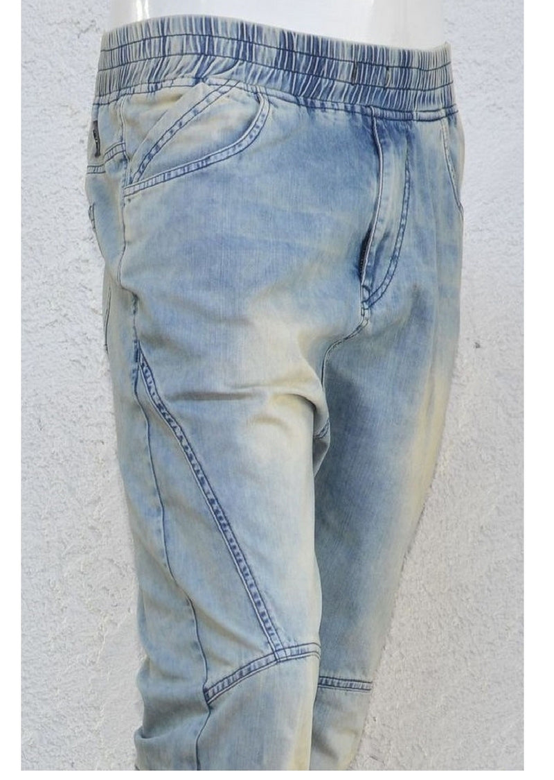 Moto Jogger Light Wash Jeans