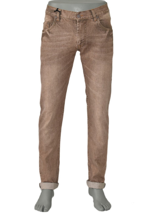 Brown Enzio Slim Straight Fit Jeans