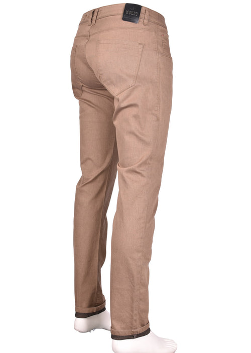 Brown Franco Five Pocket Stretch Pants