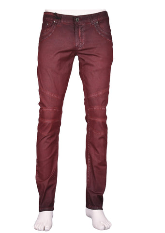 DARK BLUE CONTRAST RED STITCHES DENIM