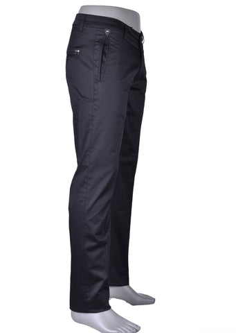 "Black ""Soho"" Five Pocket Stretch Pants"