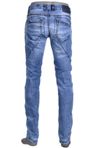 Blue Marcelo Zipper Slim Fit Jeans