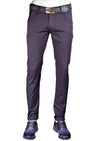 Navy Gold Zipper Tech Stretch Fit Pants