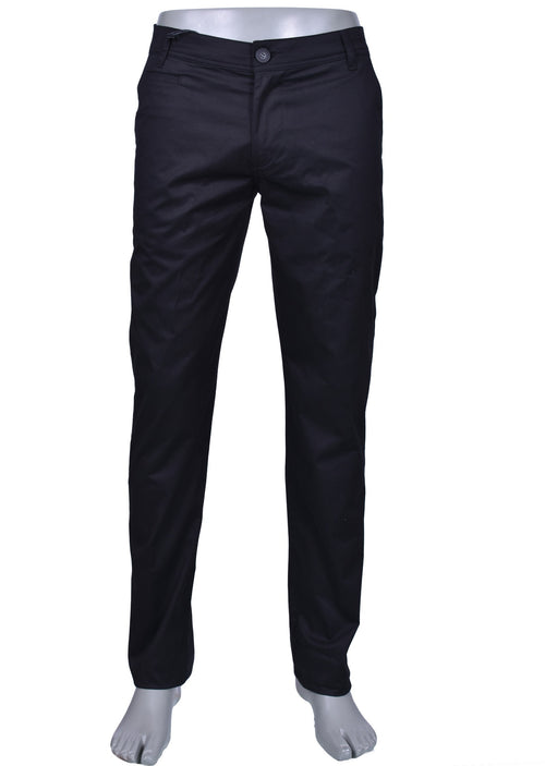 "Black Slim Fit ""Weekend"" Stretch Pants"