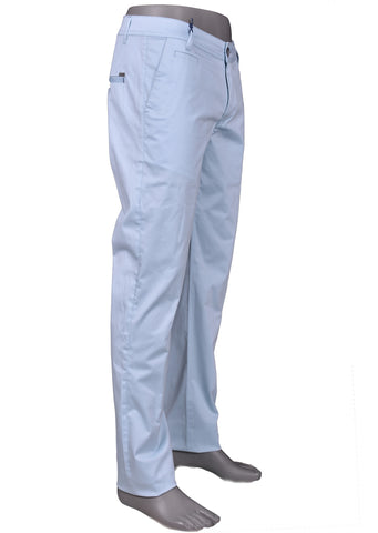Blue Slim Fit Casual Stretched Pants