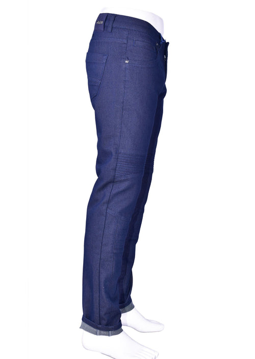 Blue Biker Twill Stretch Slim Pants