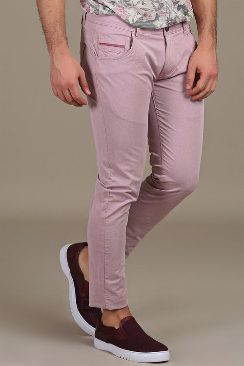 Purple Stretch Cotton Pants