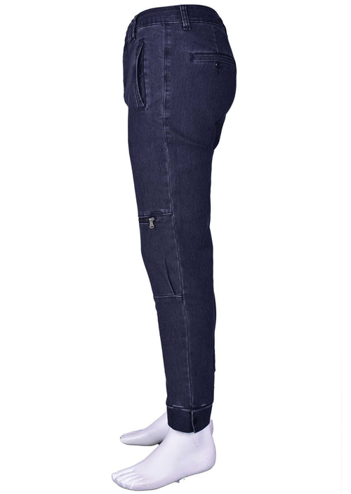 Black Zipper Slim Fit Pants
