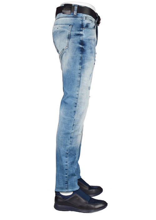 Blue Light Wash Slim Fit Jeans