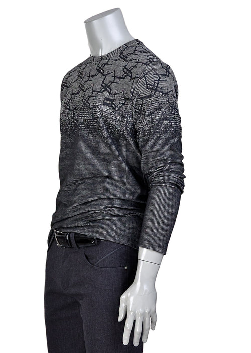 Black Light Gray Degraded Sweater