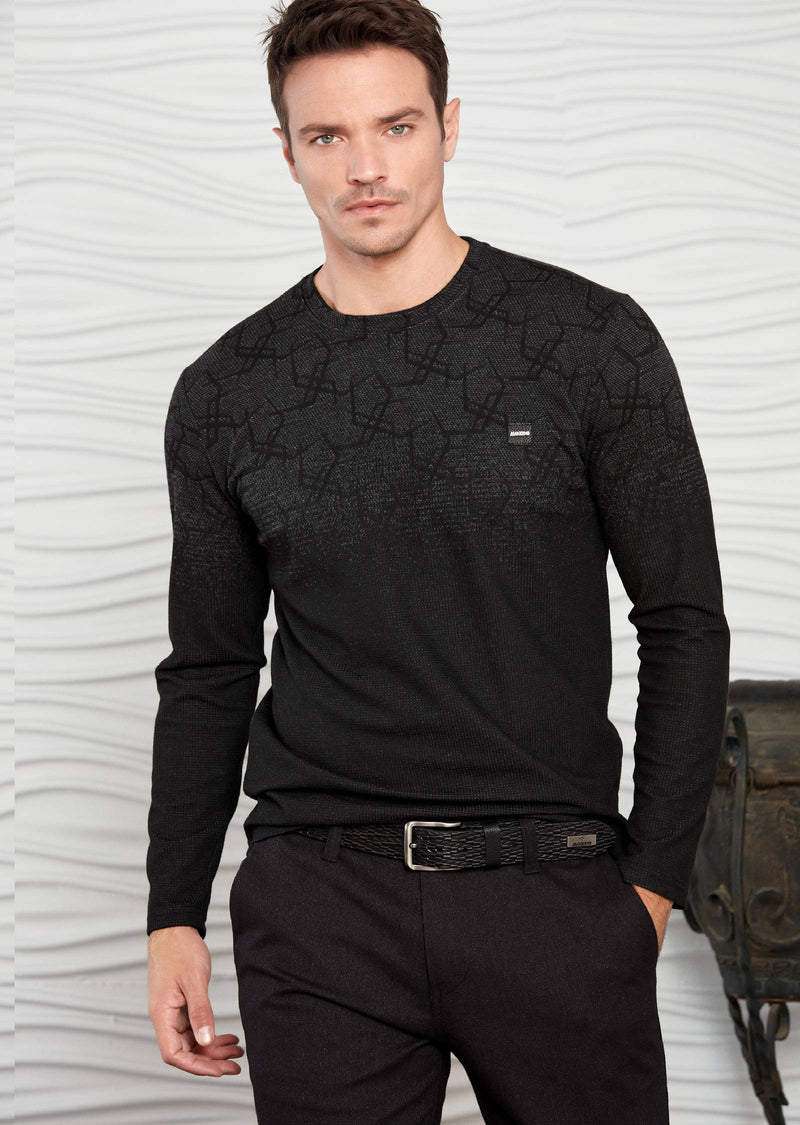 Black Gray Degraded Sweater