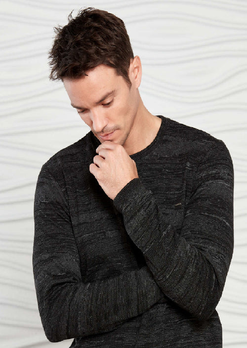 Black Two-tone Blend Sweater