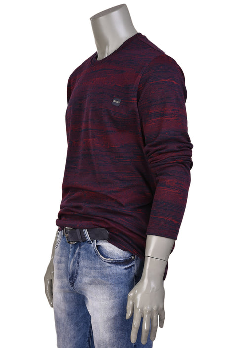 Burgundy Two-tone Blend Sweater