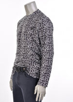 "Black ""Zigzag"" Print Sweater"
