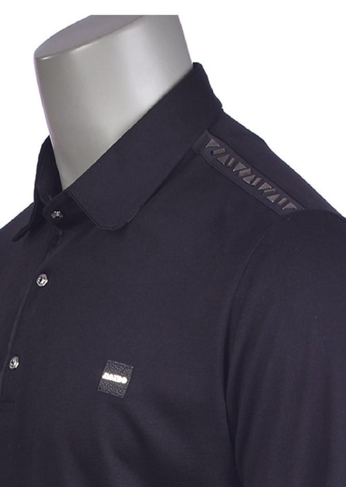 Black Shoulder Studded Polo