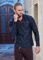 Green Purple Paisley Sweater