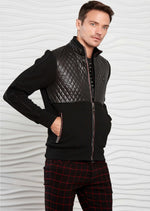Black Knit Nylon Hybrid Jacket