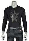 Black Star Rhinestone Long Sleeve Tee