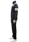 Black Gray White Colorblock Tracksuit