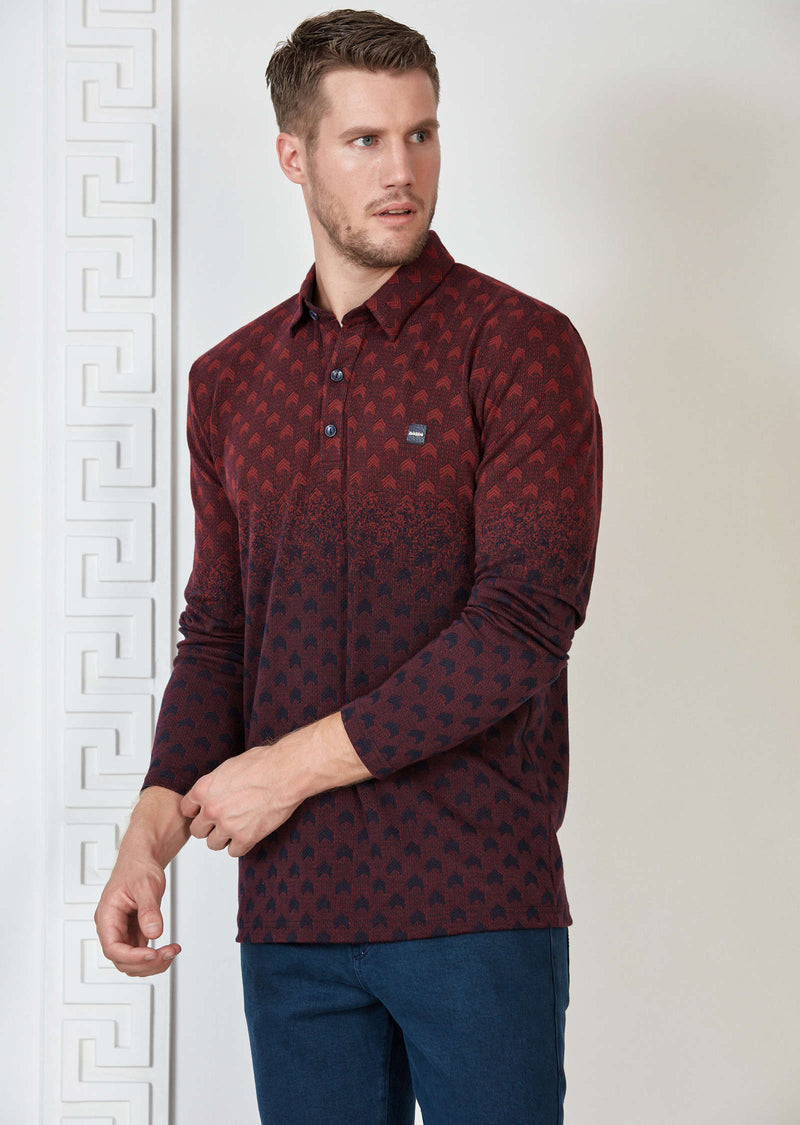 "Burgundy ""The Sergeant"" Knit Polo"