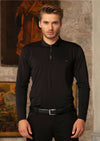 Black Gold Luxe Long Sleeve Polo
