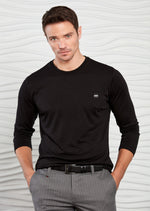 Black Dressy Long Sleeve Tee