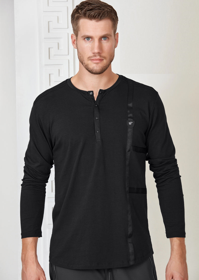 Black Ribbon Long Sleeve Tee
