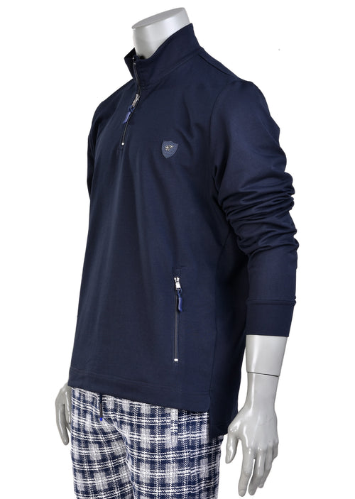 Navy Quarter Zip Sweatshirt