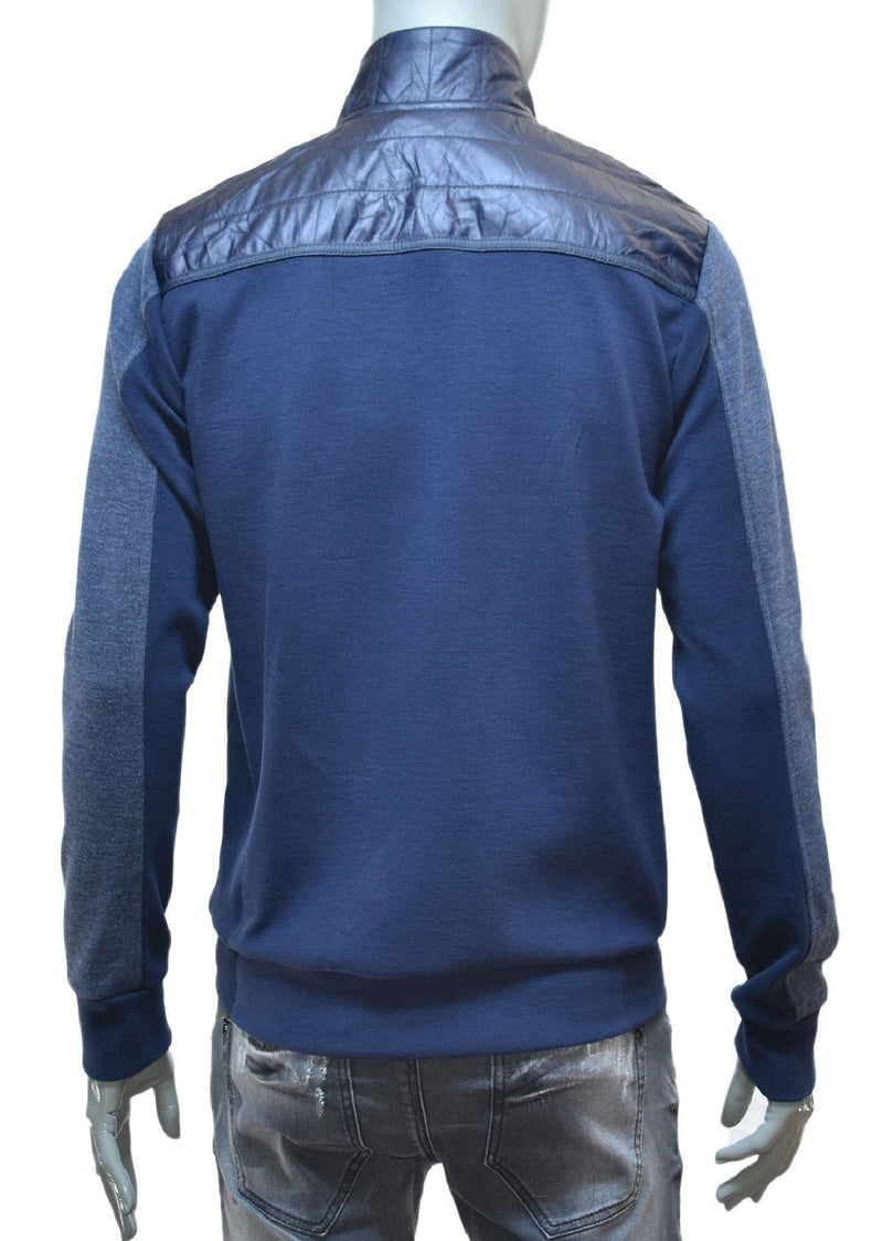 Navy Blue Zipper Hybrid Jacket