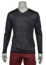 Black Tie-dye Look Technical Long Sleeve Tee