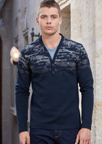 Navy Double Layered Sweater